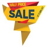 Sale label price tag banner badge template sticker design. Vector illustration Stock Images