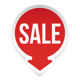 Sale label red with arrow Royalty Free Stock Photos