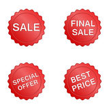 Sale label set Royalty Free Stock Photo