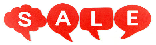 SALE , Label ,Speech bubbles Royalty Free Stock Photography