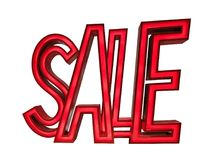 SALE LABEL IN STORE ON WHITE BACKGROUND WITH CLIPPING PATH royalty free illustration