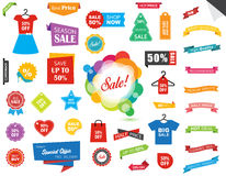 Sale Label Tag Sticker Banner Stock Photos