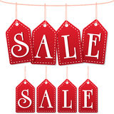 Sale label tags red Stock Image
