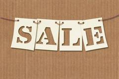 Sale. Label, text art: Sale with paper letters Stock Photos