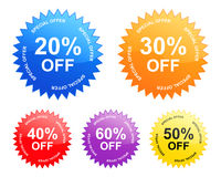 Sale labels (vector) Royalty Free Stock Images