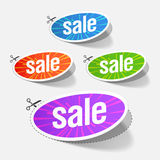 Sale labels. Vector illustration of sale labels Stock Photography