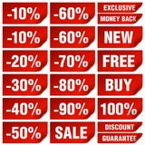 Sale labels Stock Images