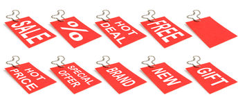 Sale labels Royalty Free Stock Photos