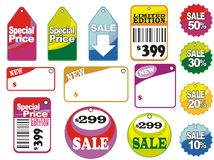 Sale labels. Different sale icons and labels Royalty Free Stock Photos