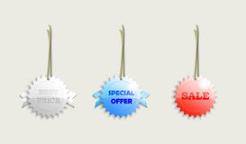 SALE LABELS Stock Photography