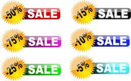 sale labels (badges) Stock Images