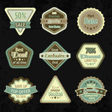 Sale labels and badges design set Royalty Free Stock Photo