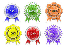 Sale labels collection Royalty Free Stock Images