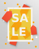 Sale labels design elements. Vector illustration. Background with  tags. Royalty Free Stock Images