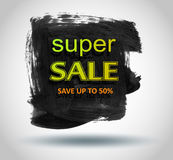Sale labels with frame Brush strokes. Royalty Free Stock Images