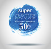 Sale labels with frame Brush strokes. Royalty Free Stock Photography