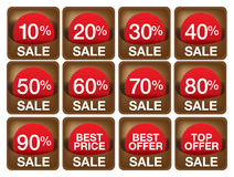 Sale labels illustrations. Stock Photography