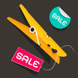 Sale Labels. Peg Vector Illustration Royalty Free Stock Photo