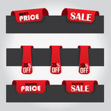 sale labels - red color Stock Images