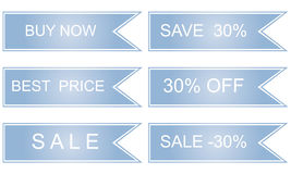 Sale labels set. Save 30,  image Royalty Free Stock Images