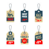 Sale labels. Set of 6 sale labels and tags Royalty Free Stock Images