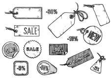 Sale labels set Stock Photo
