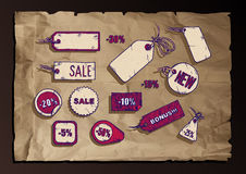 Sale labels set Royalty Free Stock Photo