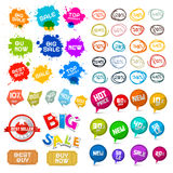 Sale Labels Set. Vector Tags Royalty Free Stock Image