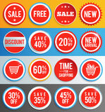 Sale labels and stickers Stock Images