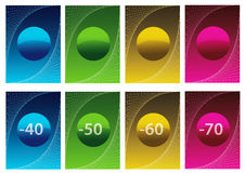 Sale labels - vector stock image