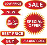 Sale labels. Vector illustration of sale labels Royalty Free Stock Photo