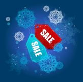 Sale labels winter set vector Royalty Free Stock Photo