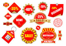Sale lables set 9 Stock Photo