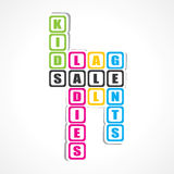 Sale for ladies ,gents and kids sticker Royalty Free Stock Photo