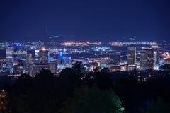 Sale Lake City Utah at Night Royalty Free Stock Image
