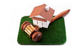 Sale of land with a house Stock Photos
