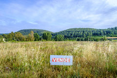On Sale land in spanish language in Catalonia Stock Photo