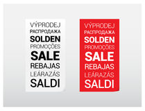 Sale Languages Poster Stock Photo