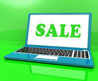 Sale Laptop Shows Clearance Discount Royalty Free Stock Images