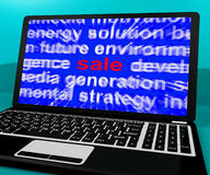 Sale Laptop Shows Reductions Discount Royalty Free Stock Images
