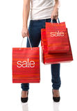 SALE  Large shopping Royalty Free Stock Image