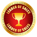 Sale leader. Icon isolated on white Royalty Free Stock Image