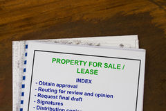 For sale or for lease. Concept for property management selling and leasing Royalty Free Stock Image