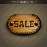 Sale leather label Stock Image