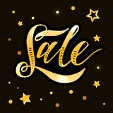Sale lettering Calligraphy Brush Text Holiday Vector Chalkboard vector illustration