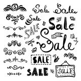 Sale lettering set Stock Images