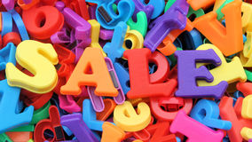 Sale letters. Letters spelling out the words sale Royalty Free Stock Image
