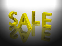 Golden sale word shiny letters Royalty Free Stock Photos
