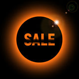 Sale with lights glare from the sun royalty free stock photography