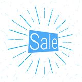 Sale logo that attracts attention. Sale logo in blue that attracts attention. vector illustration. background for promotions, discounts, promotions, tags Stock Photos